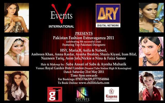 Pakistan Fashion Extravaganza 2011 in London