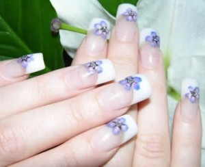 Nail Art Design with French Color