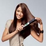 Using hair straighteners
