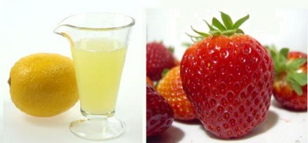 lemon strawberry juice mask
