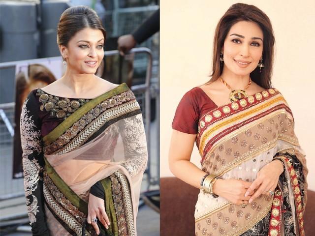 Aishwarya Reema Wearing Sari