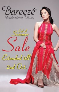 Bareeze summer sale 2011