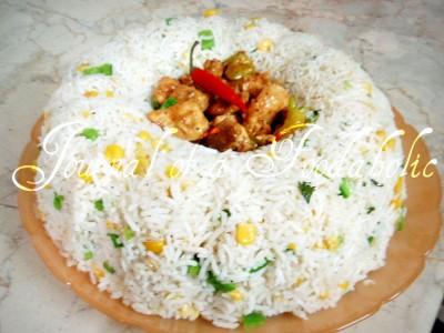Corn Fried Rice & Chicken Chili Dry