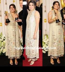 Sharmeen Obaid Chinoy wearing Bunto kazmi at Oscars Main Event