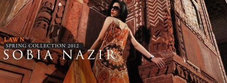 Sobia Nazir Lawn 2012 in Lahore