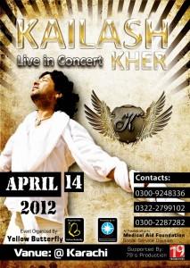 Kailash Kher Live in Concert on 14 April in Karachi