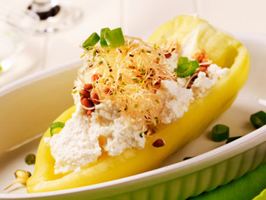 Ricotta Boats- Quick Snack For Weight Loss