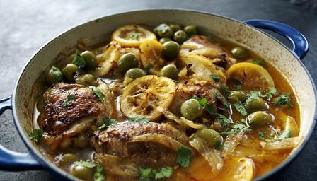 Moroccan-style chicken casserole