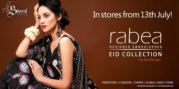 Rabea Designer Embroidered Eid Collection 2012
