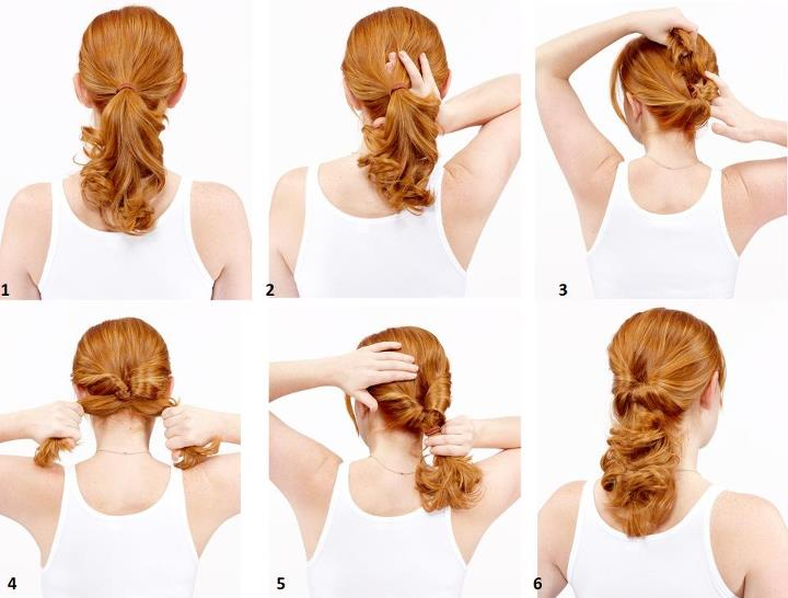 Topsy tail hairstyle