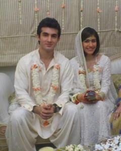 VJ Syra Yousuf and Shehroz Sabzwari Wedding Picture