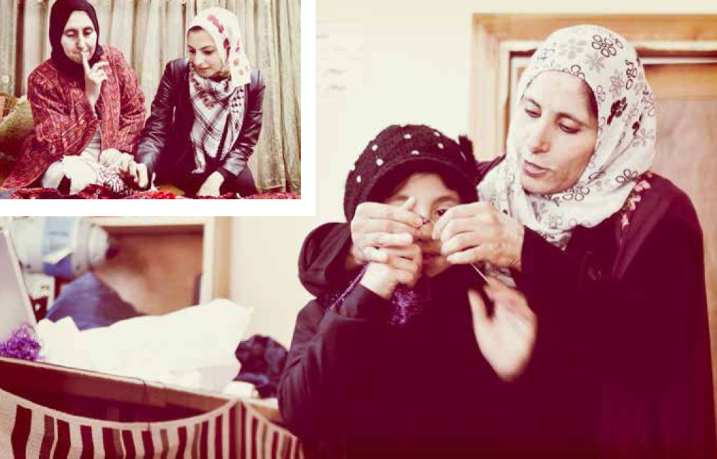 Working with Widad another woman from the refugee camp
