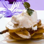 Grilled Fruit Ricotta Stacks Recipe for Christmas