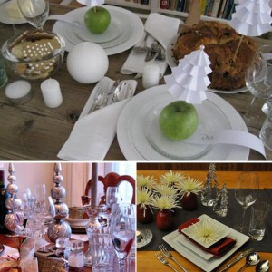 Budget Holiday table Setting Ideas