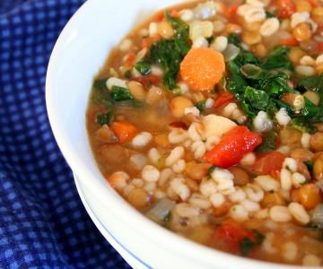 Grannys Lentil Barley Soup