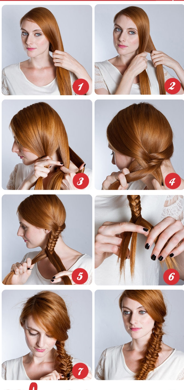 Step by step guide to make fishtail plait hairstyle