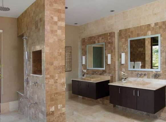 limestone tiles for Bathroom