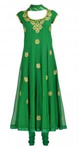 Emerald Green color fashion dress 2013