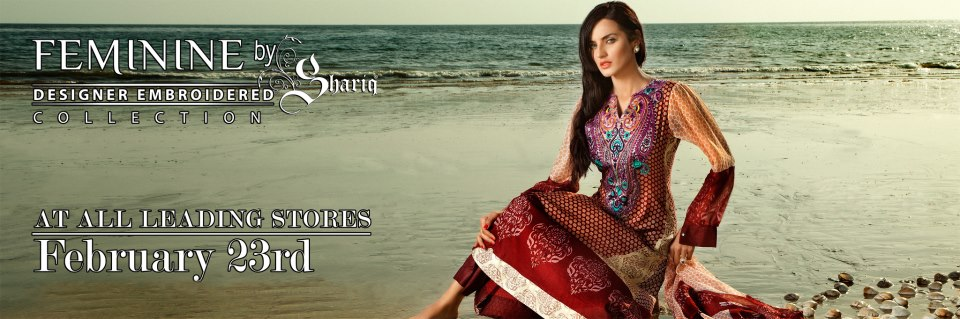 Designer lawn by Shariq 2013