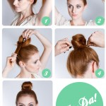 Step by step guide to do a top knot hairstyle