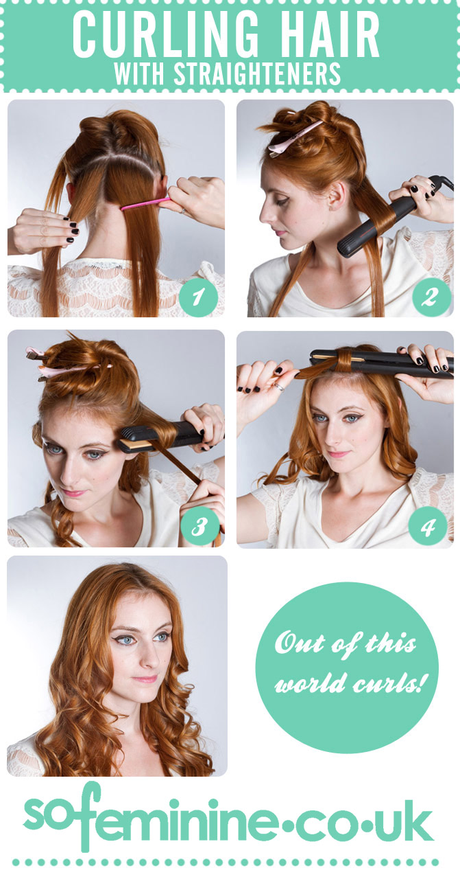 Your Step By Step Guide To The: Step By Step Guide To Curl Hair With Straighteners