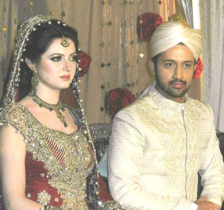 Atif Aslam Sara Bharwana Wedding photo