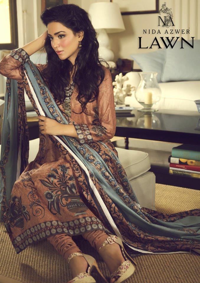 Nida Azwer Lawn 2013