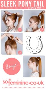 Sleek ponytail hairstyle