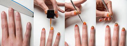 Polka Dots nail Art design