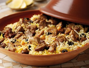 Moroccan Baked Lamb With Saffron Rice